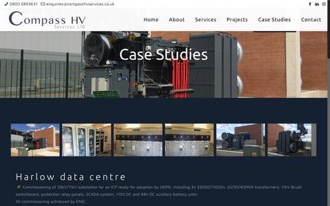 Screenshot of Case Studies Page compasshv.co.uk - Case Studies – Compass HV Services Ltd - captured Sept. 29, 2018