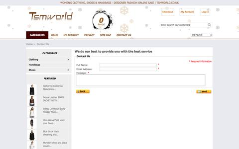 Screenshot of Contact Page tsmworld.co.uk - Contact Us : Women's Clothing, Shoes & Handbags - Designer Fashion Online Sale | Tsmworld.co.uk - captured Dec. 6, 2016
