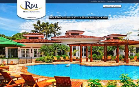 Screenshot of Home Page realhotelsandresorts.com - Real Hotels & Resorts - captured Feb. 14, 2016