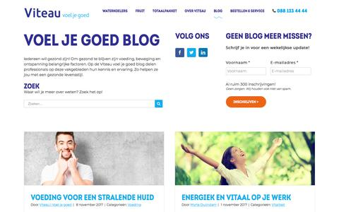 Screenshot of Blog viteau.nl - Blog - Viteau - captured Nov. 9, 2017