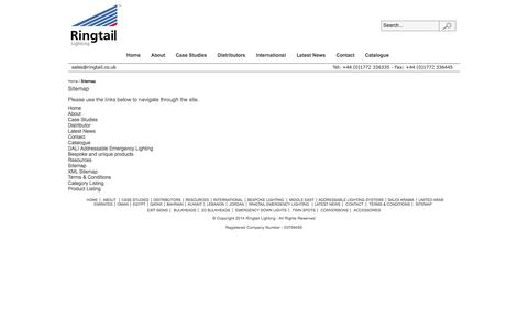 Screenshot of Site Map Page ringtail.co.uk - Sitemap - captured Oct. 7, 2014