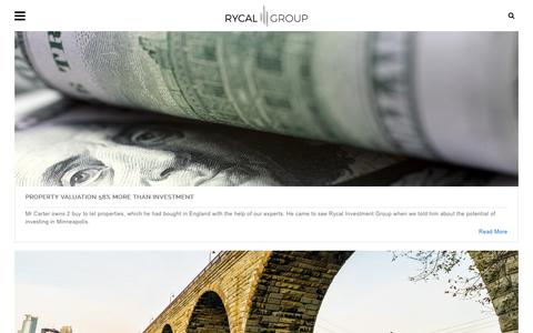 Screenshot of Case Studies Page rycalgroup.com - Rycal Group Ltd > Educational Tools > Case Studies - captured Oct. 23, 2017