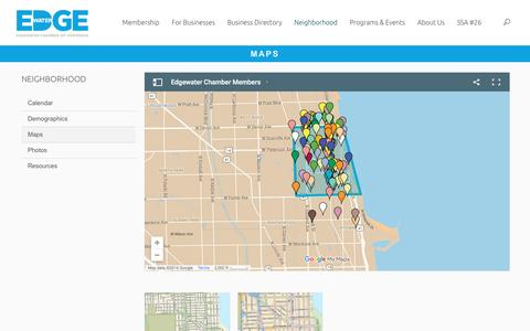 Screenshot of Maps & Directions Page edgewater.org - Maps | Edgewater Chamber of Commerce - captured Jan. 26, 2016