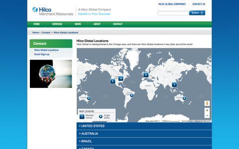 Screenshot of Locations Page hilcomerchantresources.com - Hilco Global Locations - captured Jan. 1, 2017