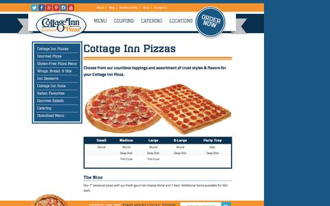 Screenshot of Menu Page cottageinn.com - Cottage Inn Pizza Delivery Menu | Cottage Inn Pizza - captured Aug. 27, 2016