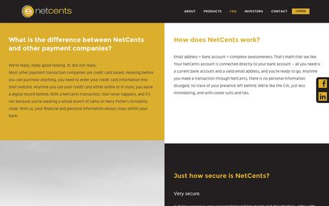 Screenshot of FAQ Page net-cents.com - NetCents Secure Payment Services FAQ   NetCents - captured Dec. 18, 2016