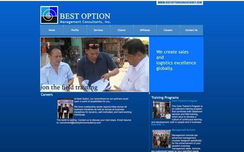 Screenshot of Jobs Page bestoptionconsultancy.com - Best Option Management Consultants, Inc. - captured Oct. 5, 2014