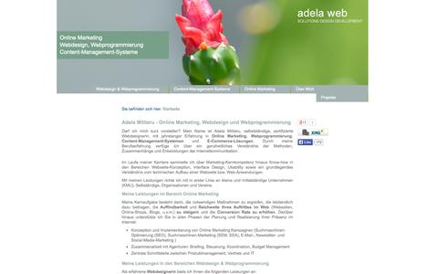 Screenshot of Home Page adela-militaru.com - Online Marketing, Webdesign & Webprogrammierung | Adela Militaru - captured Oct. 4, 2014