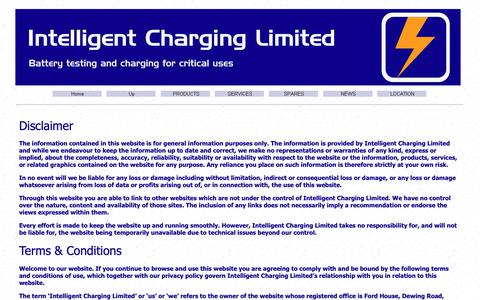 Screenshot of Terms Page intelligent-charging.com - Lithium Polymer battery charging solutions - captured Nov. 6, 2018