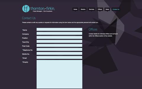 Screenshot of Contact Page thorntonfirkin.com - Thornton Firkin   Contact Us - captured Oct. 9, 2014