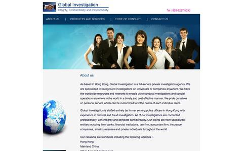 Screenshot of Home Page global-investigation.com.hk - global-investigation.com.hk、global investigation - captured Sept. 30, 2014