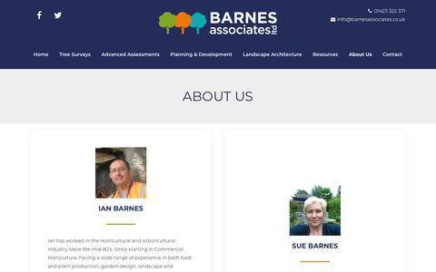 Screenshot of About Page barnesassociates.co.uk - About Us - Barnes Associates - captured Nov. 13, 2018