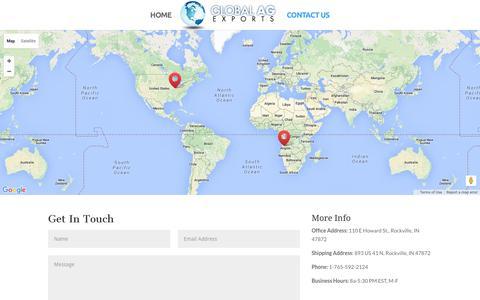Screenshot of Contact Page globalagexports.com - Contact Agriculture Consultants   Contact Agriculture Consultancy   Contact Agriculture Consulting    Global AG Exports - captured Dec. 9, 2015