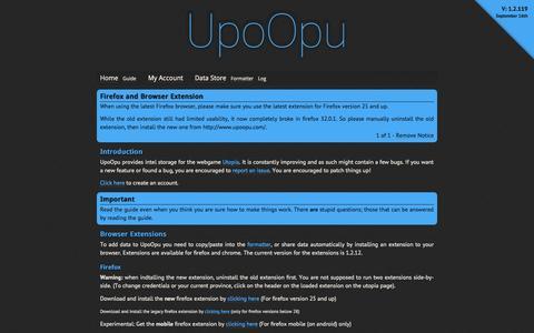 Screenshot of Home Page upoopu.com - UpoOpu - captured Sept. 19, 2014