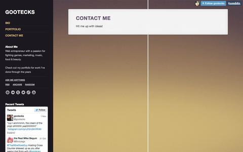 Screenshot of Contact Page gootecks.com - Contact Me | gootecks - captured Nov. 2, 2014