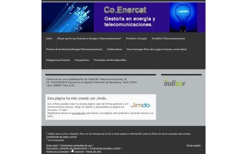 Screenshot of About Page jimdo.com - Aviso legal - Página Jimdo de Comer.cat - captured Sept. 16, 2014
