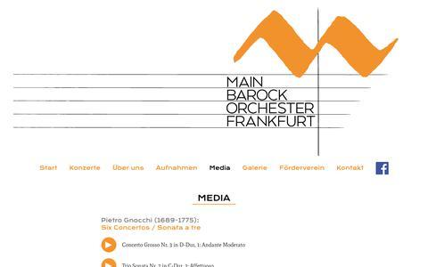 Screenshot of Press Page main-barockorchester.de - Media :: Main Barock Orchester - captured June 13, 2018