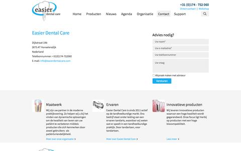 Screenshot of Contact Page easierdentalcare.com - Contact | Easier Dental Care - captured Dec. 6, 2015