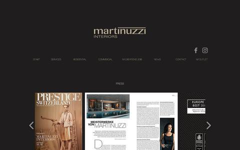 Screenshot of Press Page martinuzzi.ch - Events - captured Oct. 1, 2018
