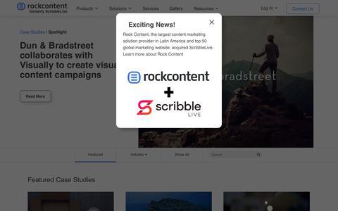 Screenshot of Case Studies Page rockcontent.com - Case Studies Archive - Rock Content - captured Feb. 24, 2020