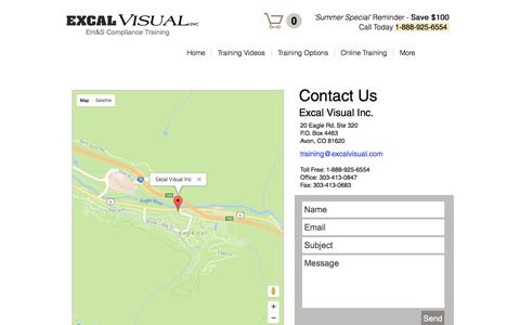 Screenshot of Contact Page excalvisual.com - EV Contacts - captured Aug. 28, 2017