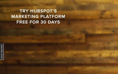 Screenshot of Trial Page hubspot.com - HubSpot 30 Day Trial | Content Marketing Software - captured July 3, 2015