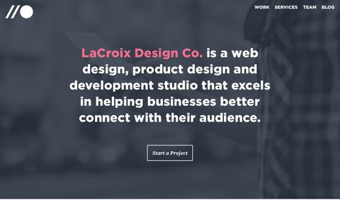 Screenshot of Services Page lacroixdesign.net - Web Design & Development Studio - Chicago | LaCroix Design Co. - captured Oct. 20, 2015