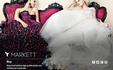 Screenshot of Home Page markett.com - Markett  |  An Innovative Marketplace to Buy and Sell Pre-Owned Luxury Goods  |  Join Now - captured Sept. 30, 2014