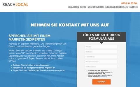 Screenshot of Landing Page reachlocal.com - Kontaktieren Sie Uns | ReachLocal - captured July 1, 2016