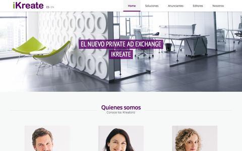 Screenshot of Home Page ikreate.es - iKreate | Agencia de marketing online - captured Jan. 28, 2015