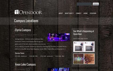 Screenshot of Locations Page opendoor.tv - Locations - Open DoorOpen Door - captured Jan. 28, 2016