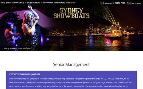 Screenshot of Team Page sydneyshowboats.com.au - Senior Management Team | Sydney Showboats - captured Aug. 15, 2016