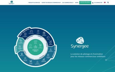Screenshot of Home Page synergee.com - Logiciel de gestion immobilière et de gestion franchise | Synergee - captured March 19, 2018