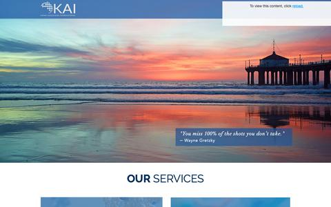 Screenshot of Services Page katanassociates.com - Services | Katan Associates - captured Nov. 15, 2018