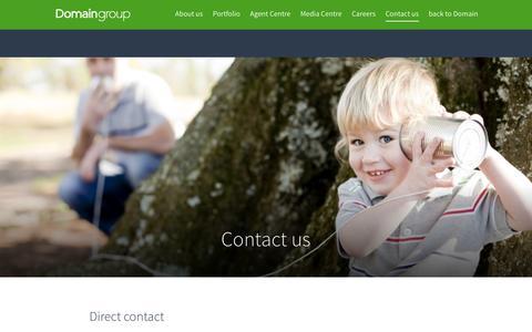 Screenshot of Contact Page domain.com.au - Contact us - Domain Group - captured Dec. 23, 2016