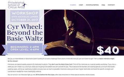 Philadelphia School of Circus Arts |  » Adult Intensives