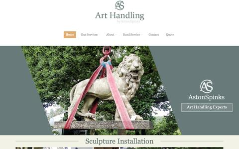 Screenshot of Home Page art-handling.co.uk - Art Handling - Fine Art Handling Experts for art houses, galleries, museums & collectors | Request a Free Quote - Fine Art Shipping Services - Fine Art Shipping - Fine Art Storage - captured Jan. 27, 2015