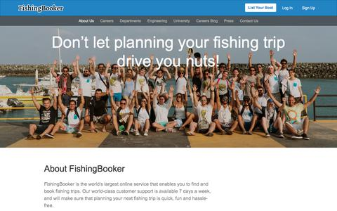 Screenshot of About Page fishingbooker.com - About Us – FishingBooker - captured July 20, 2019