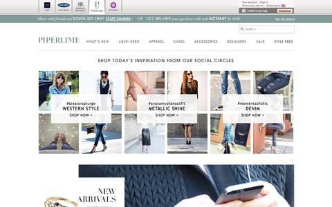Screenshot of gap.com - Women's Shoes, Designer Clothes, Handbags, Jewelry | Free Shipping and Returns | Piperlime - captured Oct. 22, 2014