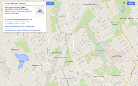 Screenshot of Maps & Directions Page google.co.uk - Google Maps - captured Oct. 10, 2014