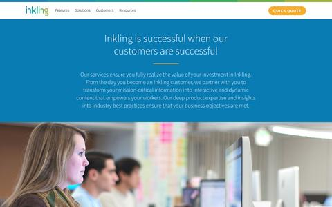 Screenshot of Services Page inkling.com - Inkling's client services team is your partner in success | Inkling - captured March 7, 2017