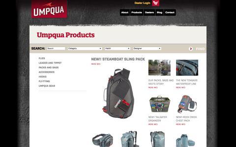 Screenshot of Products Page umpqua.com - Umpqua Products | Umpqua - captured Oct. 4, 2014