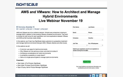 AWS and VMware: How to Architect and Manage Hybrid Environments
