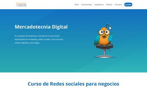 Screenshot of Home Page mercadotecniadigital.com - Mercadotecnia Digital   Cursos de Capacitación en Redes Sociales y Marketing Digital para Negocios - captured Jan. 12, 2018