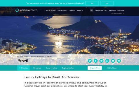 Luxury Holidays Brazil | Sandy Beaches To Amazon Jungle