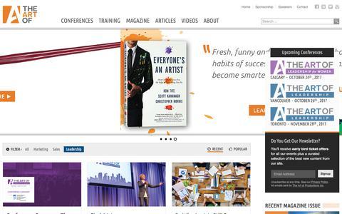 Screenshot of Team Page theartof.com - The Art Of | - captured June 29, 2017