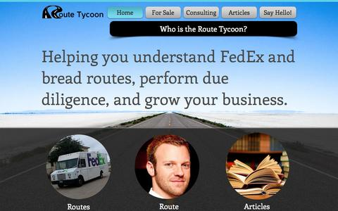 Screenshot of Home Page routetycoon.com - Route Tycoon | FedEx and route consulting - captured Sept. 19, 2014