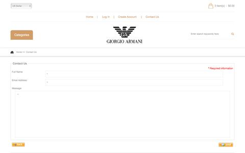 Screenshot of Contact Page tnhsyracuse.com - Contact Us : Giorgio Armani Clothing, Emporio Armani Jeans Womens - captured Dec. 1, 2016