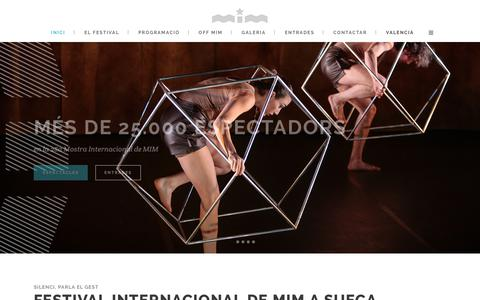 Screenshot of Home Page mimsueca.com - Mostra Internacional de MIM a Sueca | Mostra Internacional de MIM a Sueca - captured Jan. 5, 2018