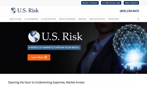Opening the Door to Underwriting Expertise, Market Access - U.S. Risk